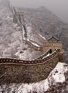 The Great Wall covered by snow